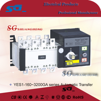 Two section type Automatic Transfer Switch auto changeover switch ATS