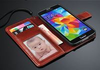 Mobile Phone Case Luxury PU Leather Wallet Case For Samsung Galaxy S5 With Card Holder