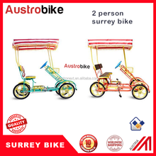 2 person surrey bike electric bike with waterproof roof for india