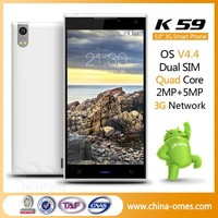 Strong Perfermance OMES K59 2G Ram 16G Rom 5 inch HD IPS quad core 2g ram smart phone