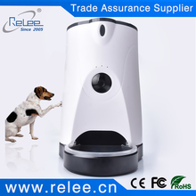 Automatic Android IOS APP controlled elevated pet feeder smart cat feeding IP camera dog feeder camera