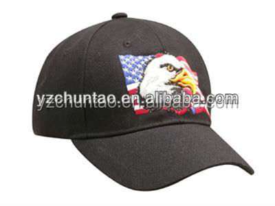BSCI unique american style baseball caps with eagle