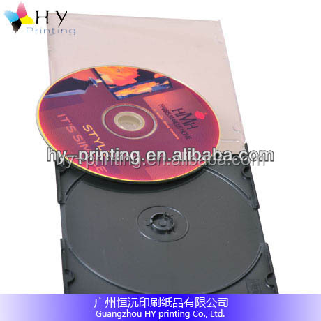 Plastic CD DVD Cases With Sleeve With Safe Locks