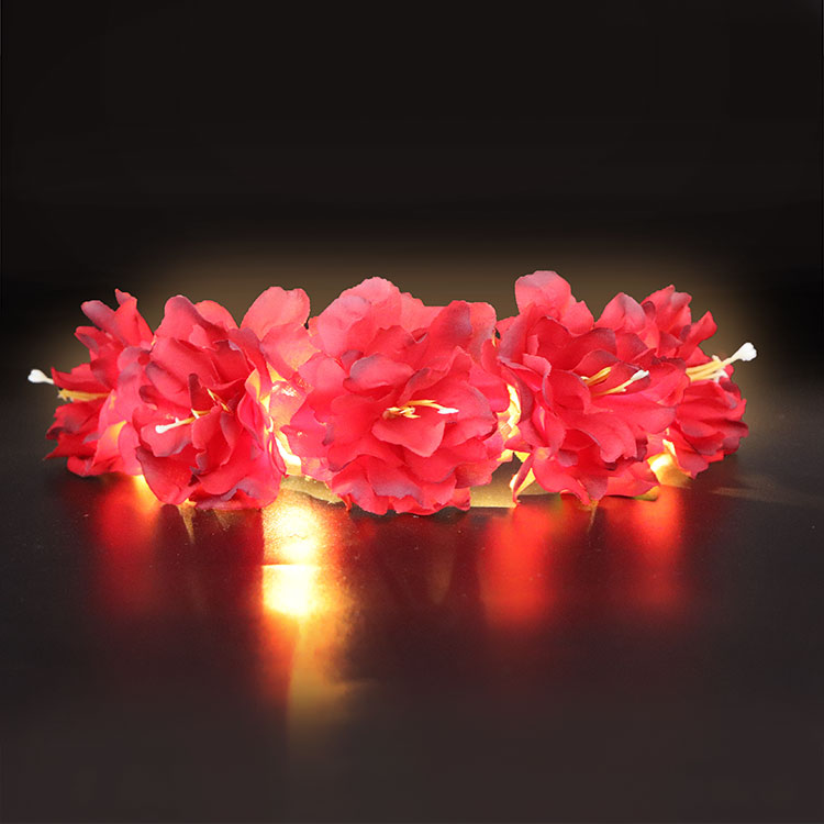 <strong>Hair</strong> <strong>accessories</strong> 2018 hot selling glowing girl flower crowns LED string light flower headband