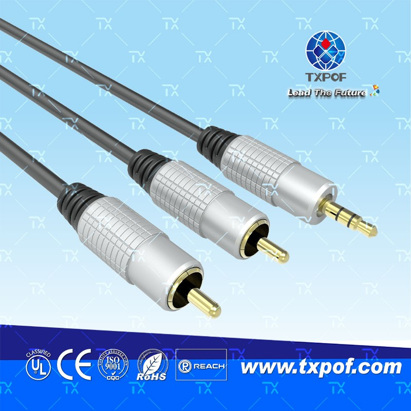 Metal shell interconnect audio cable vga rca high quality