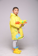 pvc free kids wholesale raincoat with a pouch