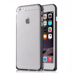 Metal Frame + TPU Hybrid Case for iPhone 6