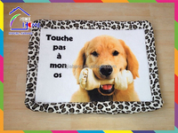 Plush printing dog pet bed