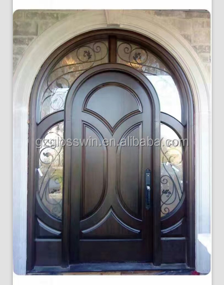 Hand quality solid wood arch main door design