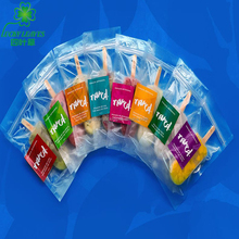 accept order plastic frozen food pouch with zipper for popsicle /printed ice cream ziplock packing bag /PET Ice bar packaging