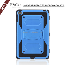 "8"" rugged tablet pc case tpu bumper case for ipad mini 4 with stand function"