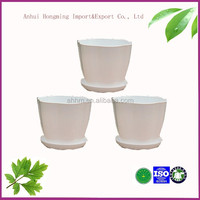 Save 25% free sample ecofriendly Home garden cheap color stackable 3 petal plastic flower pots