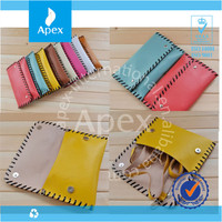 new desgn pu leather colorful clutch purse