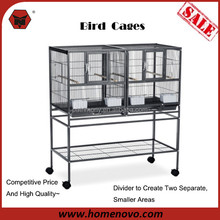 X08694 Competitive Price High Quality 2-Level Stainless Steel Large Parrot Cage Bird wire Mesh with Wheels