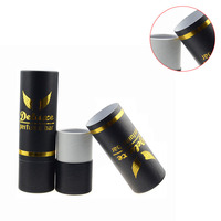 Elegant Black Cardboard Paper Tube Package