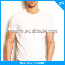 Wholesale Mens Round Neck Plain White T Shirt For Custom Printing
