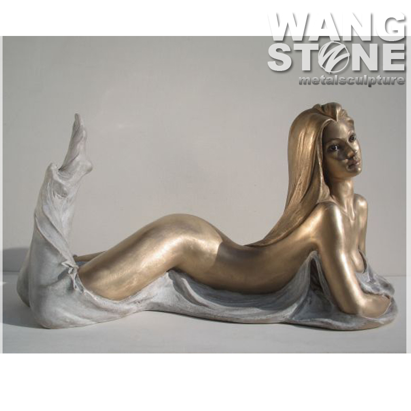 Life Size Sexy Lady Statue/ Nude Female Bronze Sculpture