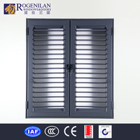 ROGENILAN double opening louvered garage doors exterior metal doors prices