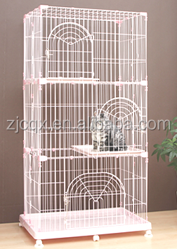 Pet Cages, Carriers & Houses Type and Cats Application cat cage with wheel