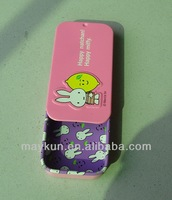Hot sale slide tin box for mints,candy or tablets packaging