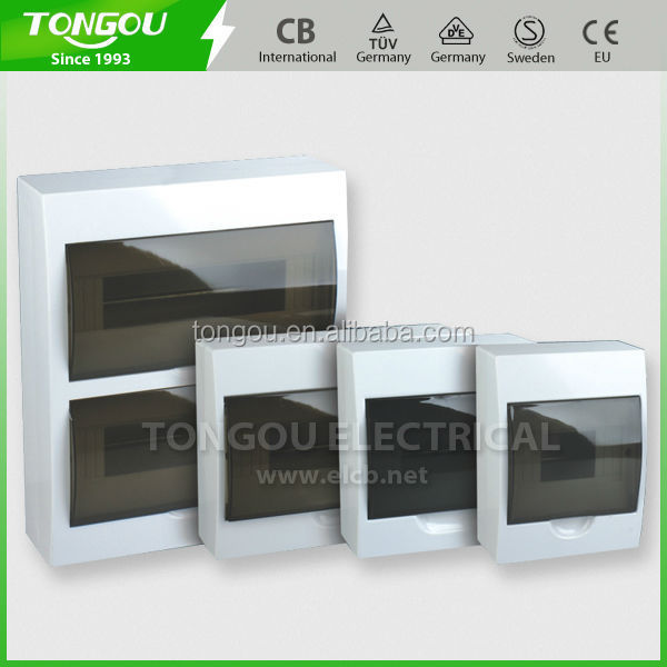 TOP-TS 12 Ways Surface Mount Distribution Box plastic enclosure