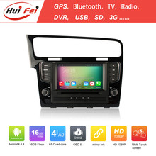 Pure Android 4.4.4 OS HD Car Radio For New Golf 7 2013 Auto Radio For VW Golf 7
