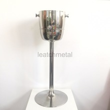Stainless steel ice bucket holder Metal Decoration Stand