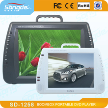12.5 inch Portable Car Media DVD EVD Player Price With USB TV FM Game