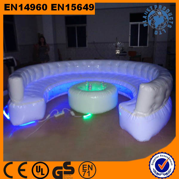 Commercial Grade Durable Giant Inflatable Sofa With Led Light