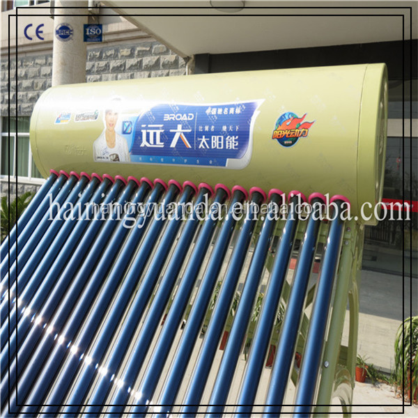 New Energy-saving Discount Price Compact Non-pressurized Solar Water Heater With A Good Quality for Overseas Market