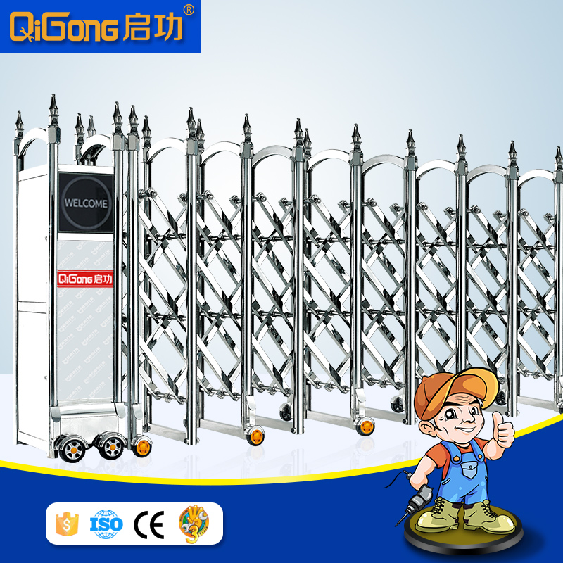 Stainless steel telescopic sliding gate of latest main gate designs