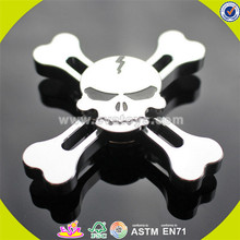 Wholesale stress reducer gold skull four sides lightweight aluminum alloy hand spinner fidget EDC focus toy W01A287