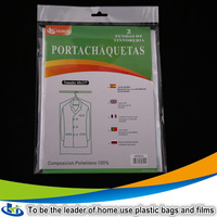 Jiangsu suit garment bag wholesale plastic suit cover Transparent suit bag