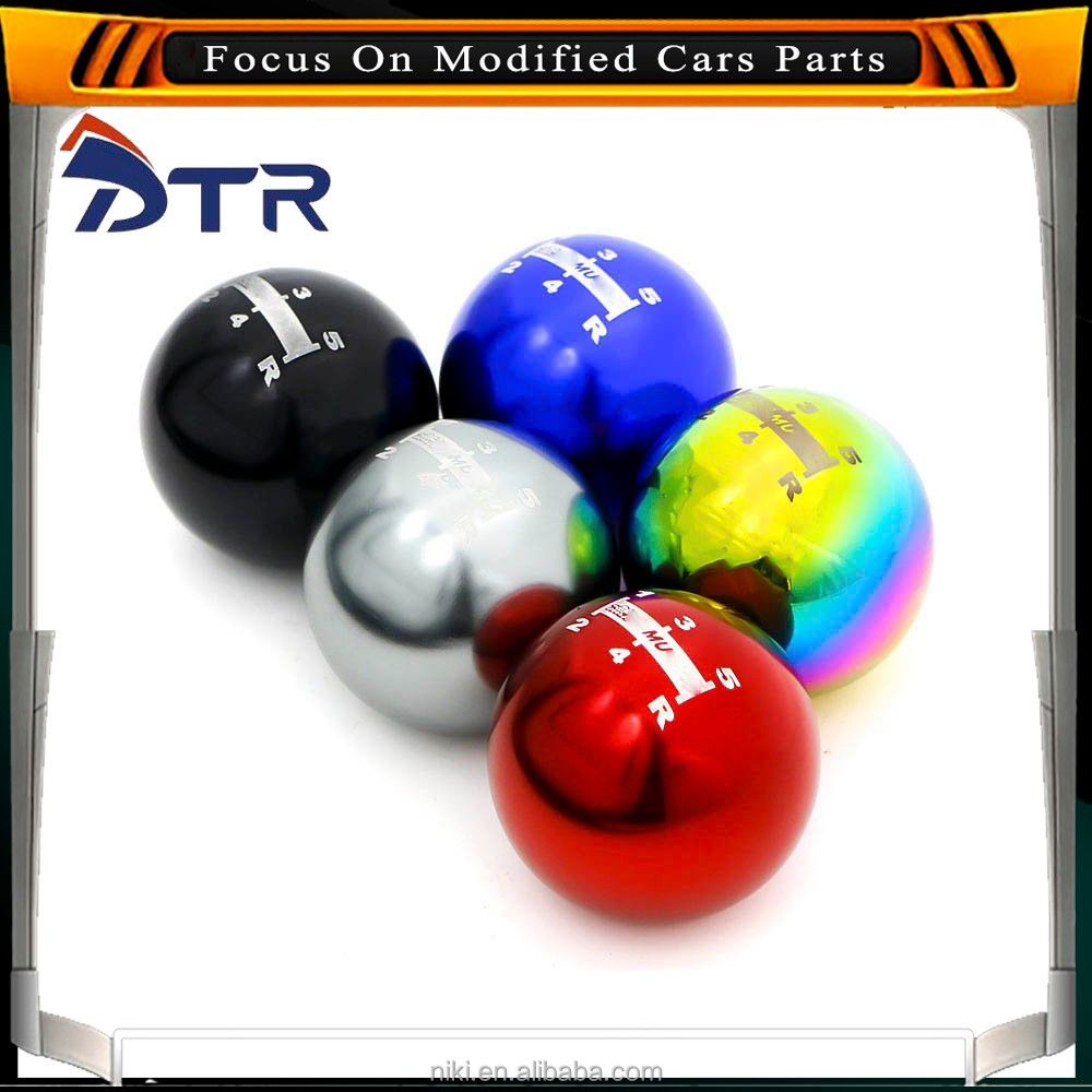 Universal Gear Shift Knob Neo Chrome 5 Speed Manual Automatic Spherical car Shift knob wholesale