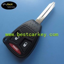 Topbest 2+1 button car key blanks with pad with big button blank key blank fake car key