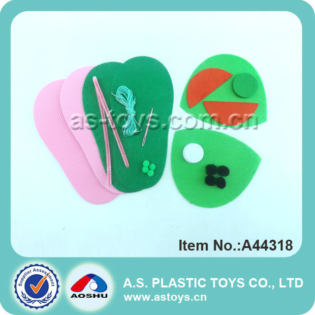 Plush DIY creative finger shoes toy