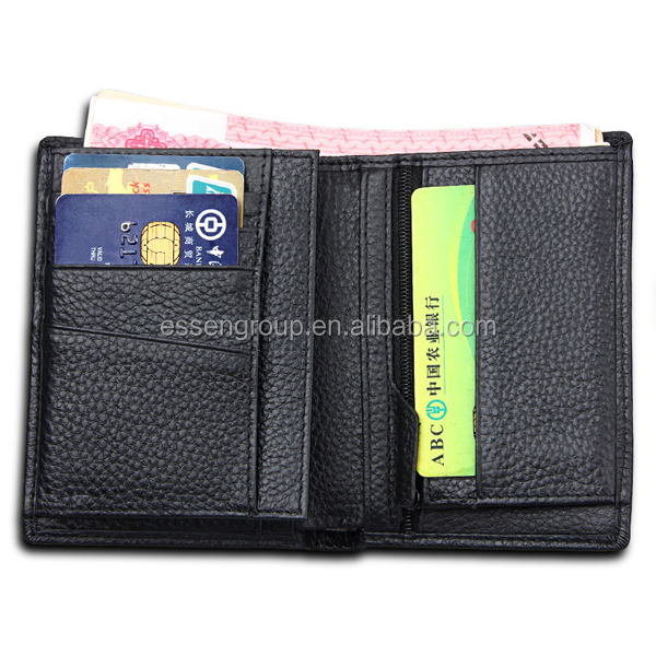 European old fashion business purse casual men black wallet