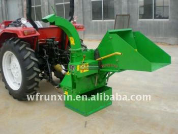 Tractor mounted 3 point hitch PTO wood chipper with CE certificate