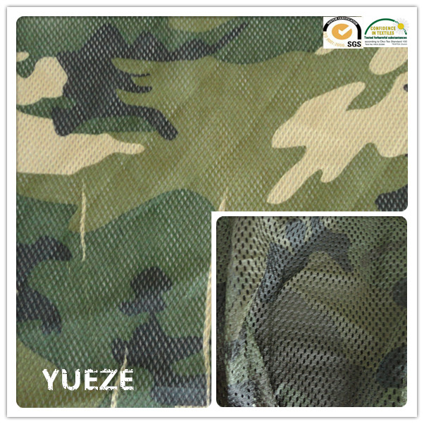 100% polyester printed camouflage mesh fabric