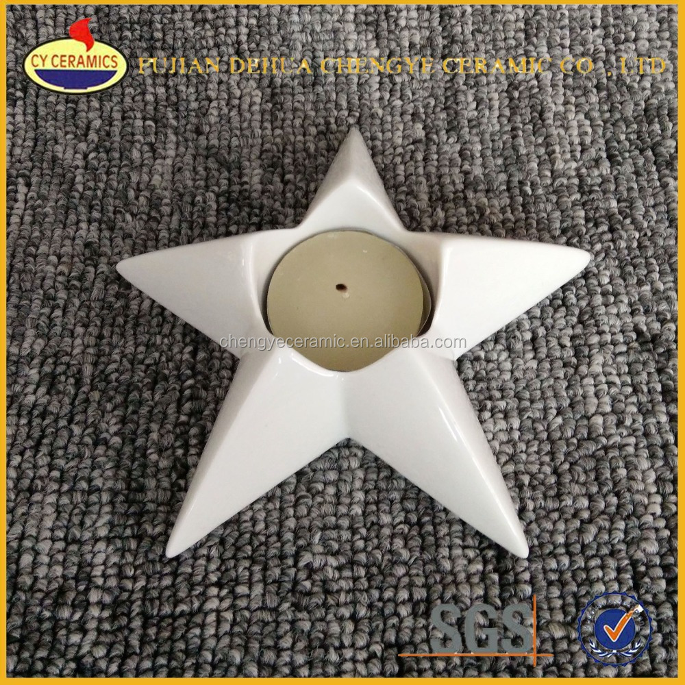 bulk ceramic star shape tealight candle holders