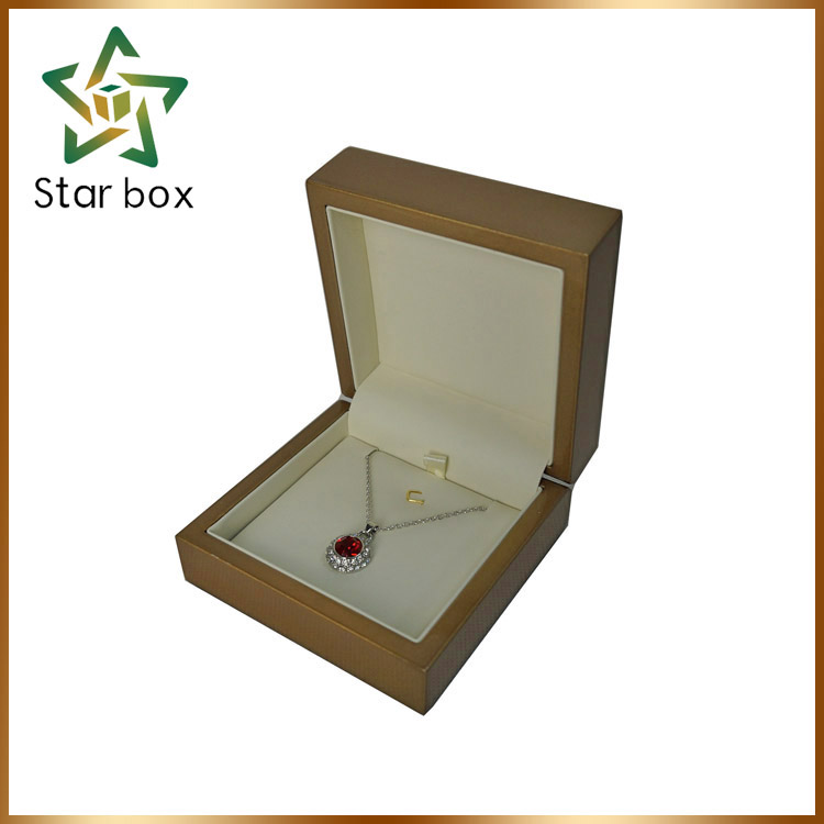 Caja de joyeria de madera champagne lacquer wooden jewellery box for jewelry packaging