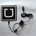 13x13cm EL Backlight panel, uber light panel car sticker with usb inverter