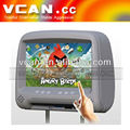 "800X480 resolution 9"" monitor with digital android 4.0 touch screen car headrest"