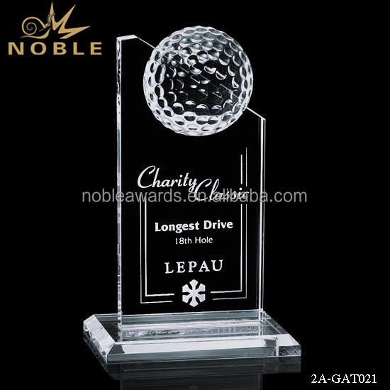 Noble Upscale Custom Crystal Golf Plaque Trophy Sports Souvenir Gifts
