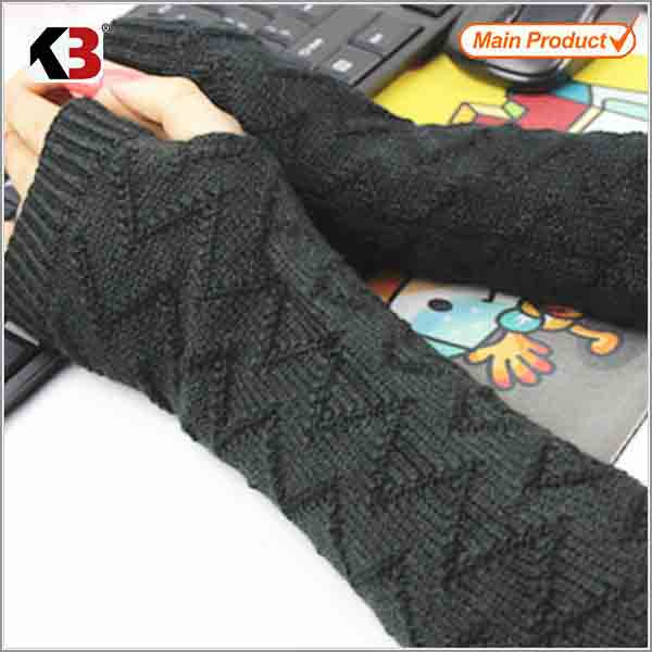 Cable knit long sleeve mittens, plush gloves and open finger mittens china factory/