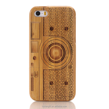 New hot products Luxury bamboo case for iPhone 3D graved wood phone case for iPhone SE 5S