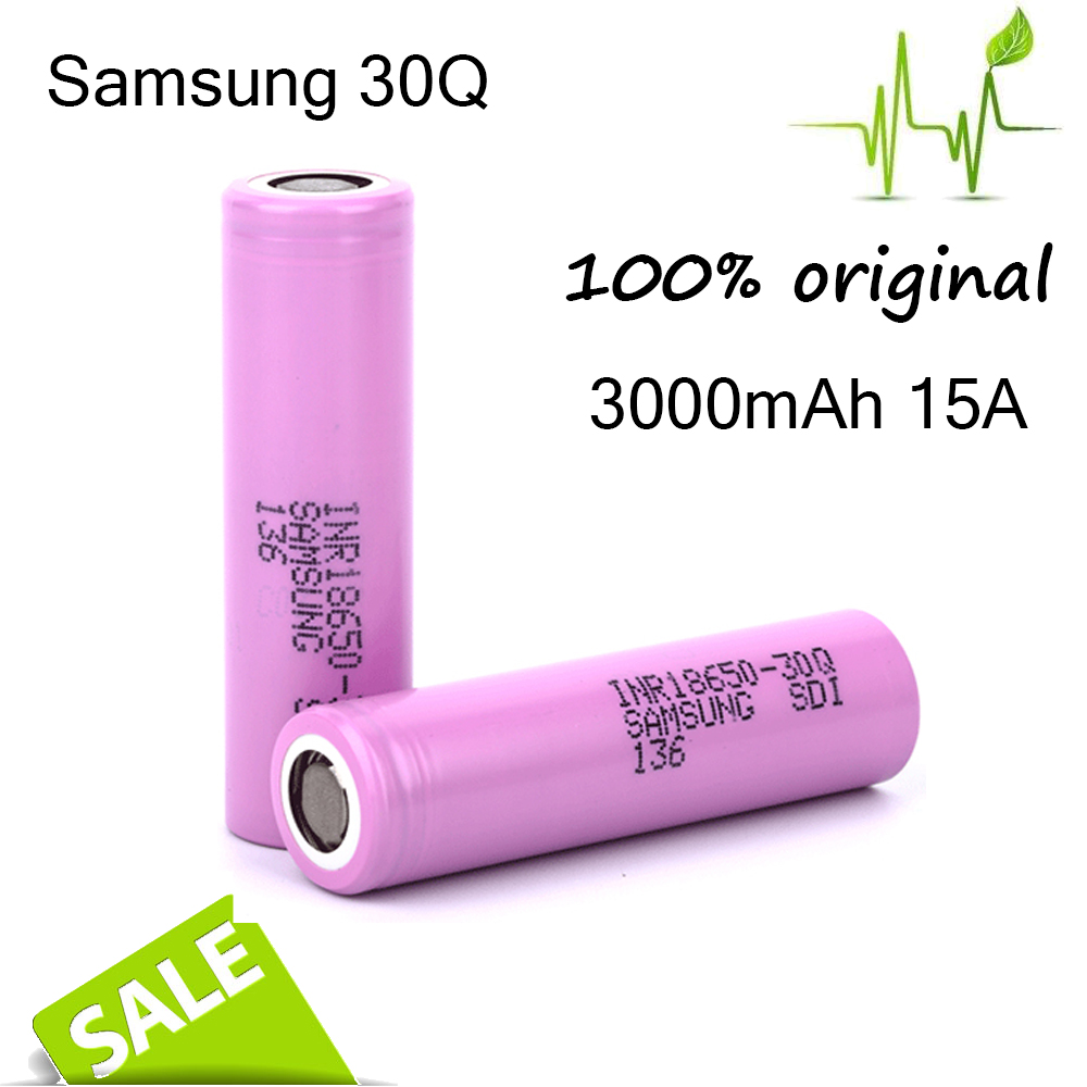 Cylindrical Size and LiFePO4 Type Rechargeable 18650 Li ion Battery Samsung 30q