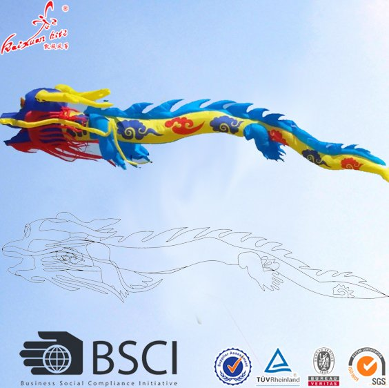 new design large show inflatable Chinese dragon kite