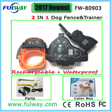 Newest Waterproof stubborn underground 2 Dog electric Fence Containment System with Remote collar