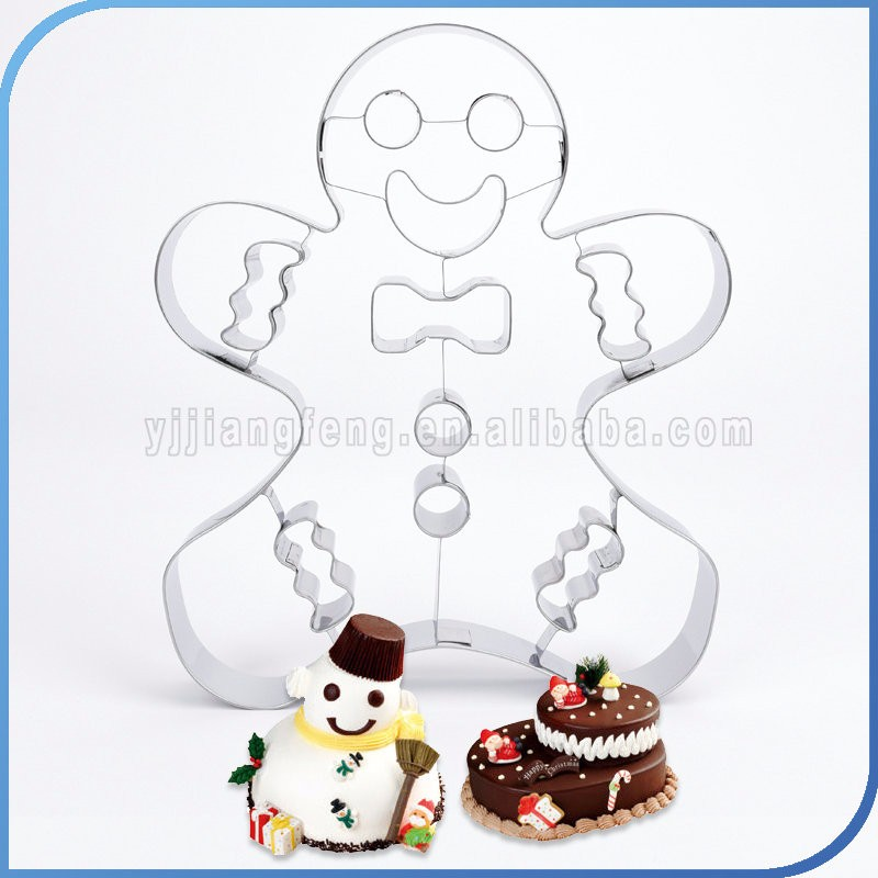Happy Gingerbread snowman cookie cutter Biscuit mold baking tool